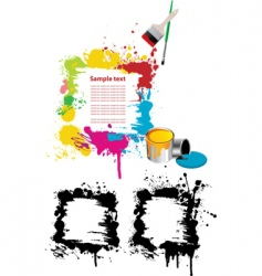 grunge paint splatter vector image