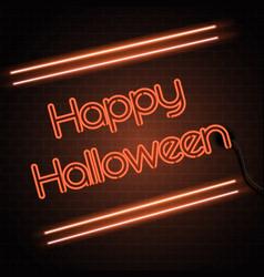 halloween neon sign background vector image