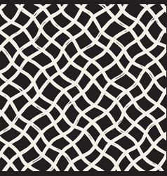 hand drawn seamless plaid pattern allover pattern vector image