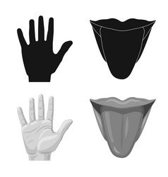 Human and part sign vector