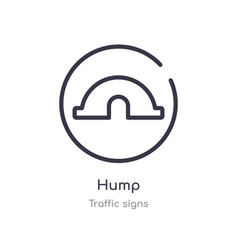 Hump outline icon isolated line from traffic vector