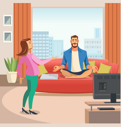 image of a relaxing home environment vector image