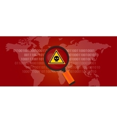 internet data virus malware vector image