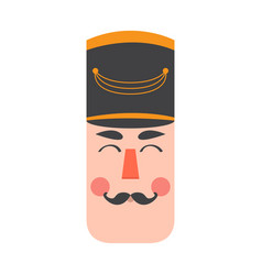 isolated cute nutcracker soldier avatar vector image
