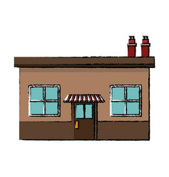 Local store or shop market groceries chimney vector