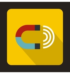 Magnet icon in flat style vector