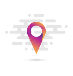 map pointer flat icon with a colorful gradient vector image