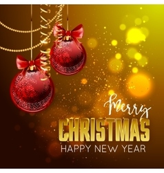 Merry Christmas and happy new year design template vector image