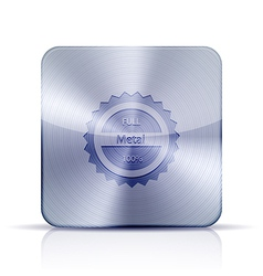 metal app icon on white background eps10 vector image