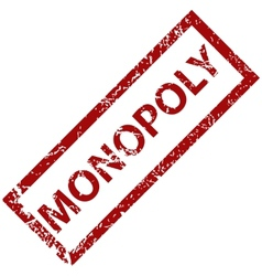 Monopoly rubber stamp vector