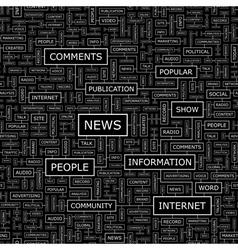 NEWS vector image