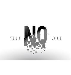 nq n q pixel letter logo with digital shattered vector image