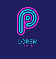 p letter logo icon vector image