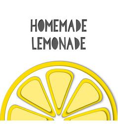 paper cut yellow lemon cut shapes 3d abstract vector image