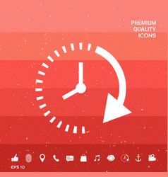 Passage of time icon vector