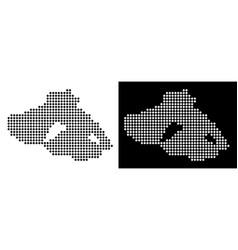 Pixel greek lesbos island map vector