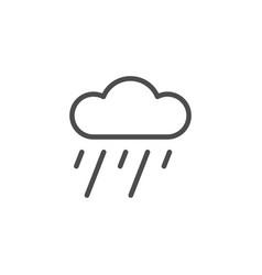 Rain line icon vector