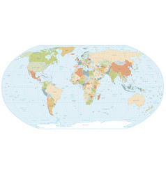 robinson projection map world vector image