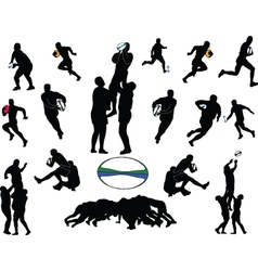Rugby collection vector