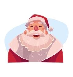 Santa Claus face laughing facial expression vector image