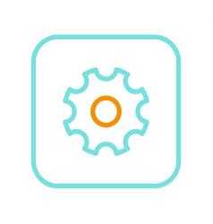settings logo isolated on white mockup vector image