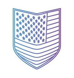 Shield of flag united states of america in color vector