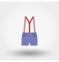 Shorts with suspenders Rompers Icon vector image vector image