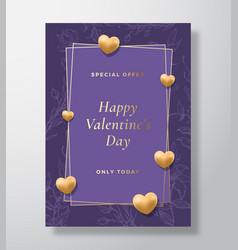 special offer valentines day abstract vector image