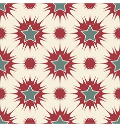 Stars seamless pattern retro vector image