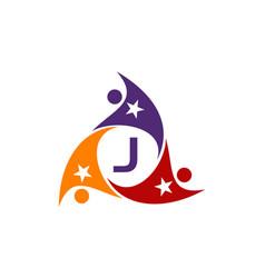 Success life coaching letter j vector