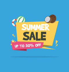 Summer sale background with family vector