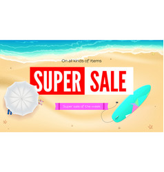 summer sand of beach on the seashore selling ad vector image vector image