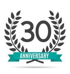 Template Logo 30 Years Anniversary vector image