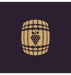 The wine icon Cask and keg alcohol wine symbol vector image