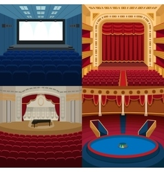 Theaters and scene background vector