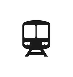 train icon graphic design template vector image