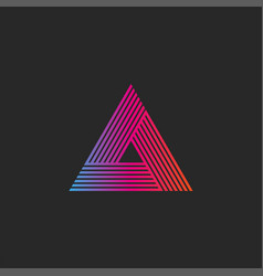 triangle logo gradient abstract linear infinite vector image