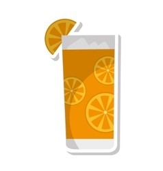 tropical cocktail glass isolated icon vector image