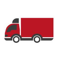 truck lorry logo car with trailer delivery vector image vector image