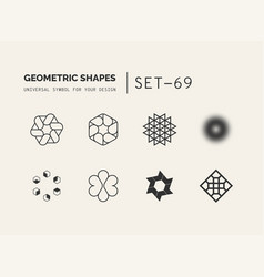 universal shapes for your design vector image