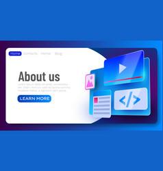 web site ui element banner web development vector image