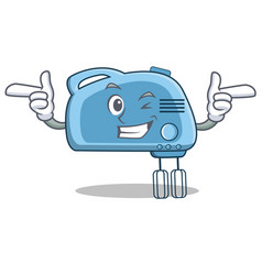 Wink mixer character cartoon style vector