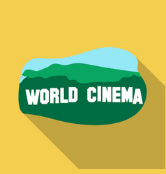 world cinema sign icon in flate style isolated on vector image