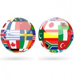 world spheres vector image vector image