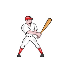 Baseball Hitter Batting Isolated Cartoon vector image