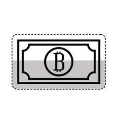 bill with bitcoin symbol vector image