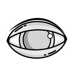 grayscale human eye to optical vision icon vector image