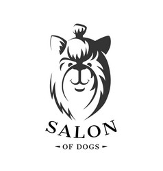 icon template for the dogs store vector image