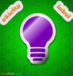 Light lamp Idea icon sign Symbol chic colored vector image vector image