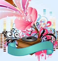 pop music gramophone vector image vector image